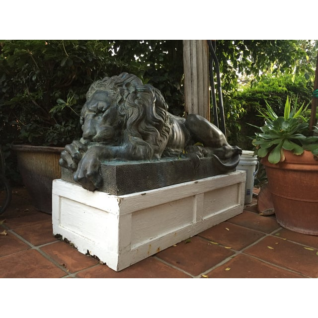 Antique Bronze Lion Sculptures - A Pair - Image 7 of 9