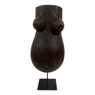 Late 20th Century African Wood Female Torso For Sale