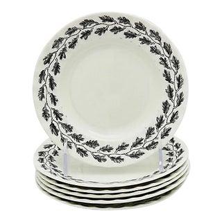 Vintage Worcester Royal Oak Side Plates - Set of 6 For Sale