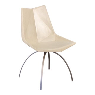 Paul McCobb White Origami Chair on Spider Base For Sale