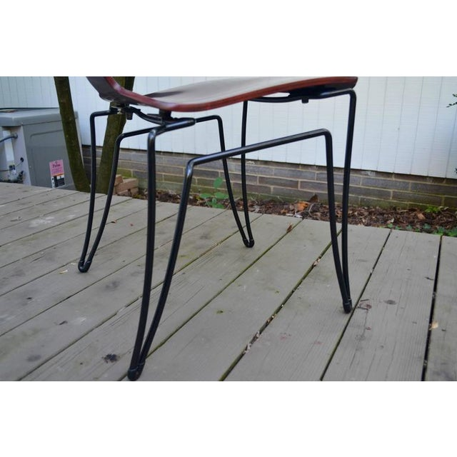 Brown Anziano Dining Chairs by John Hutton for Donghia For Sale - Image 8 of 10