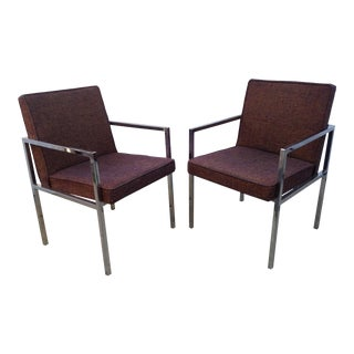 Milo Baughman for Founders Chrome Chairs- A Pair