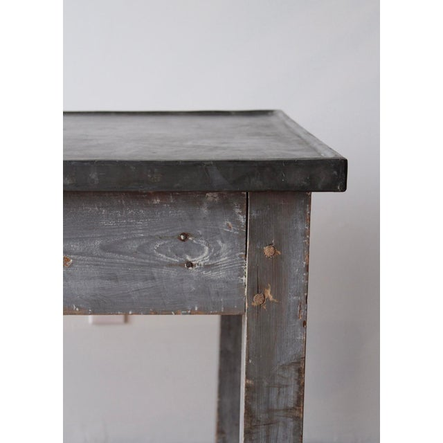 Antique French Zinc Work Table For Sale - Image 4 of 7