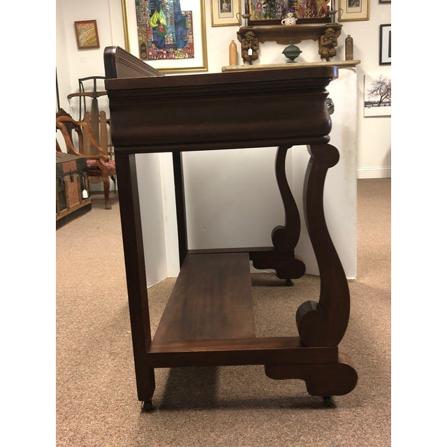 19th Century Early American Hersee Library Desk For Sale In New York - Image 6 of 10