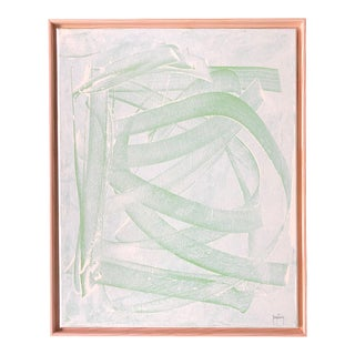 """""""Green Mirage"""" Modern Abstract Painting by Tony Curry For Sale"""