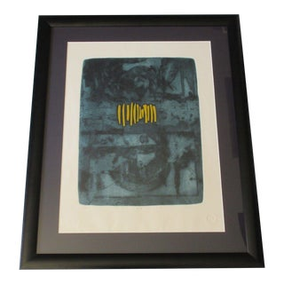1970's Abstract Etching by J.b Thompson For Sale
