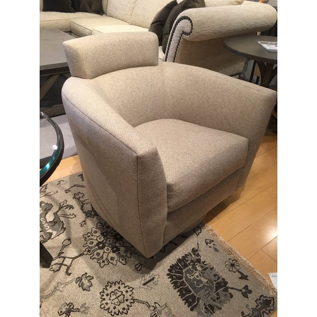 Modern Swivel Chairs - A Pair For Sale - Image 4 of 5