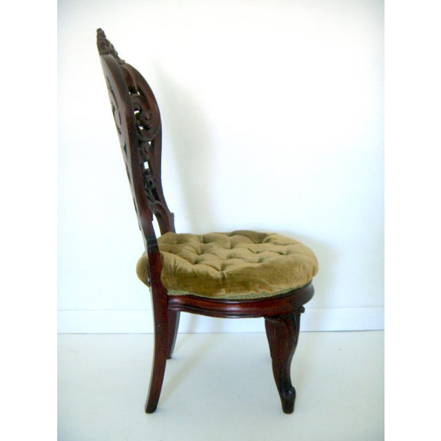 Ornate High Back Accent Chair - Image 4 of 6