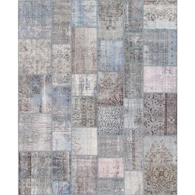 """Vintage Patchwork Wool Rug - 8' 1"""" X 10' - Image 1 of 3"""