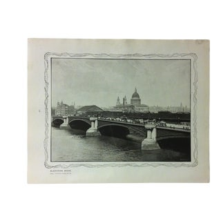 "1906 ""Blackfriars Bridge"" Famous View of London Print For Sale"