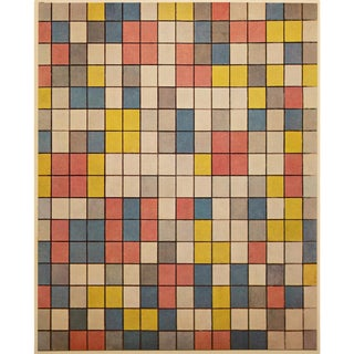"""1958 After Piet Mondrian """"Composition in Bright Colors"""" Vintage Full Color Print From England For Sale"""