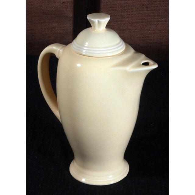Vintage Fiesta Ware Sunflower Yellow Coffee Pot - Image 6 of 7