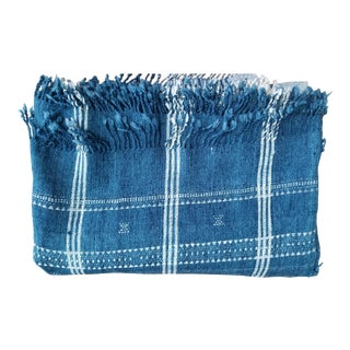 Indigo With Shell Kutch Throw For Sale