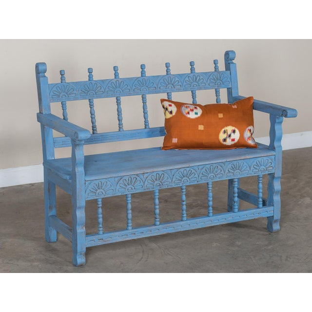 Late 19th Century Antique French Painted Bench circa 1890 For Sale - Image 5 of 9