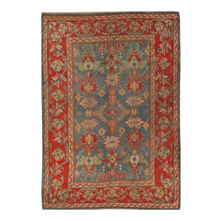 Antique Turkish Oushak Rug, 6' X 9' For Sale