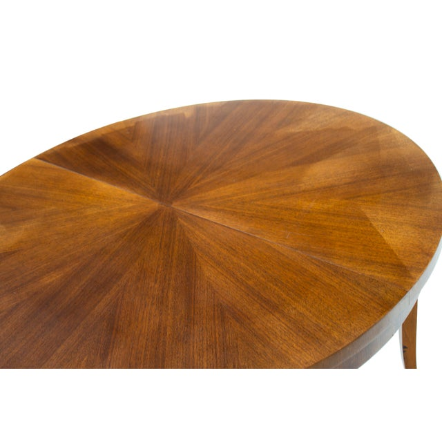 Brown Round Dining Table by t.h. Robsjohn-Gibbings for Widdicomb, Model 4322 For Sale - Image 8 of 12