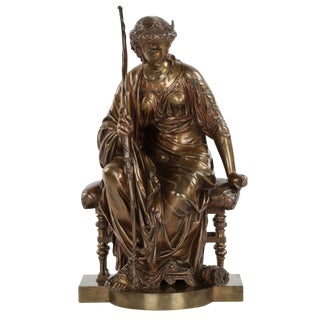 19th Century French Antique Bronze Sculpture by Etienne-Henri Dumaige For Sale