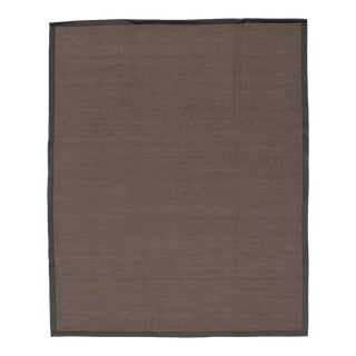 """Handmade Jute Black and Brown Rug-8'10"""" X 11'6"""" For Sale"""
