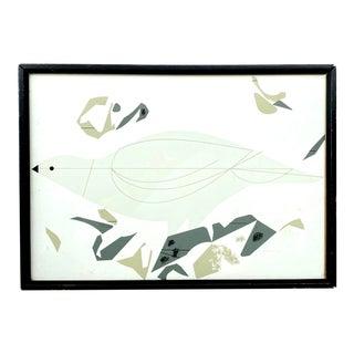 Signed Charley Harper, 1922-2007 Bird Screen Print Mid Century Modern Artwork For Sale