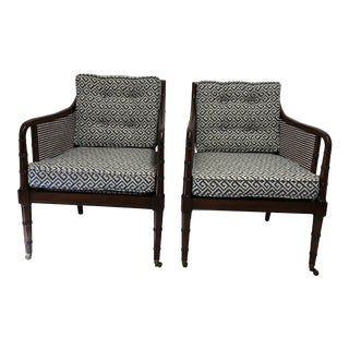 Hickory Chair Lounge Chairs, a Pair For Sale