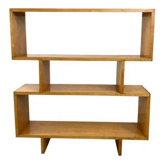 Modernist Maple Open Shelf For Sale