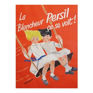 1957 French Poster, Blancheur Persil Ça Se Voit