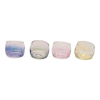 Vintage Pastel Lusterware Cocktail Glasses - Set of 8 For Sale