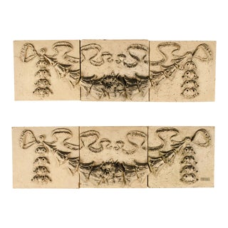 Rectangular Three Part Terracotta Friezes Philadelphia Circa 1870 - a Pair For Sale