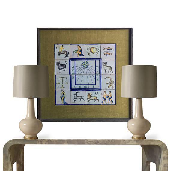 Mid-Century Modern Framed Mid-Century Modern Zodiac Tiles For Sale - Image 3 of 8