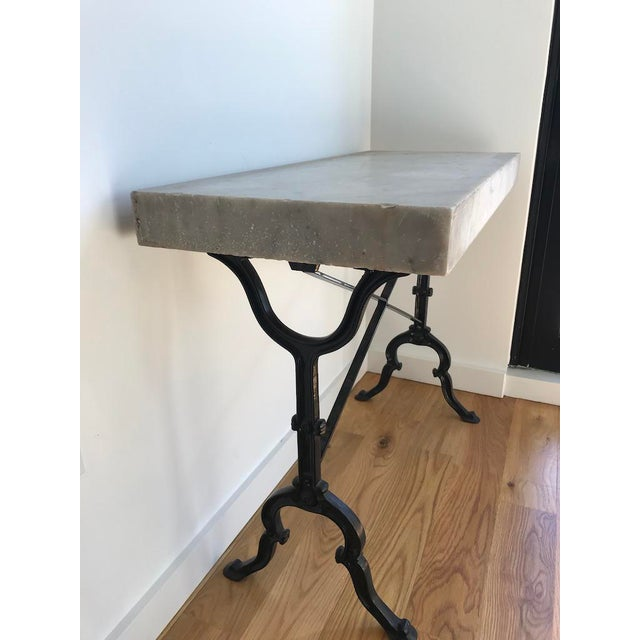 Mid 20th Century 20th Century French Marble & Iron Bistro Table For Sale - Image 5 of 10