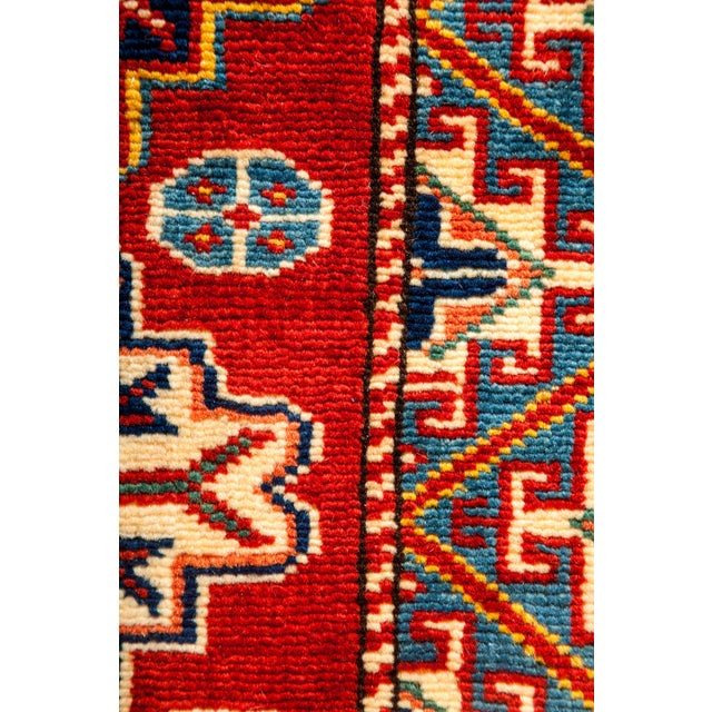 """Traditional New Traditional Hand Knotted Area Rug - 5'1"""" x 6'10"""" For Sale - Image 3 of 3"""
