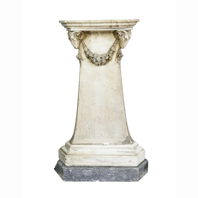 Louis XVI Marble Pedestal For Sale In Boston - Image 6 of 9