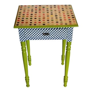 Mixed Pattern Occasional Side Table For Sale