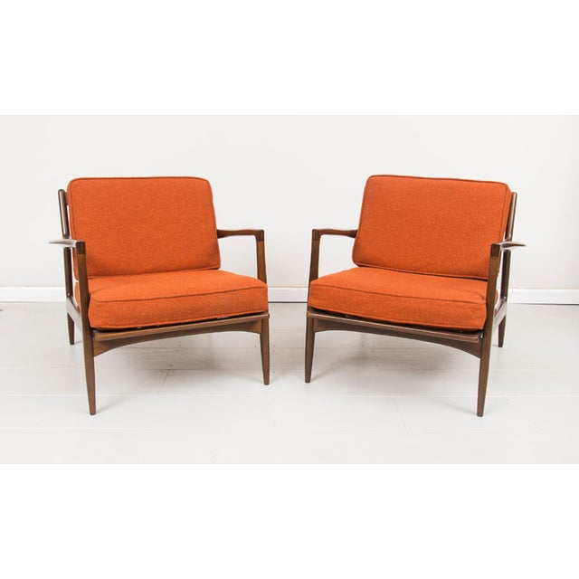 Selig Danish Mid Century Arm Chairs - Pair - Image 2 of 4