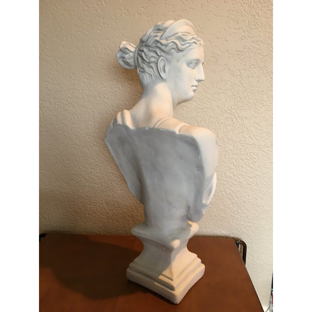 Figurative 1980s Diana Goddess of the Hunt Large Scale Bust Sculpture For Sale - Image 3 of 10