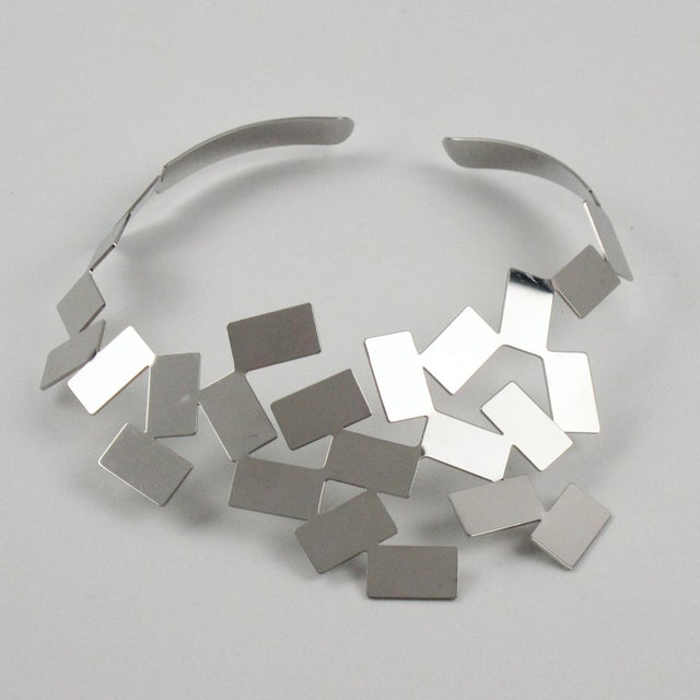 Mario Trimarchi for Alessi Stainless Steel Futurist Collar Necklace For Sale - Image 10 of 10