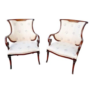 1940s Vintage Dorothy Draper Hollywood Regency Style Lounge Chairs - a Pair For Sale