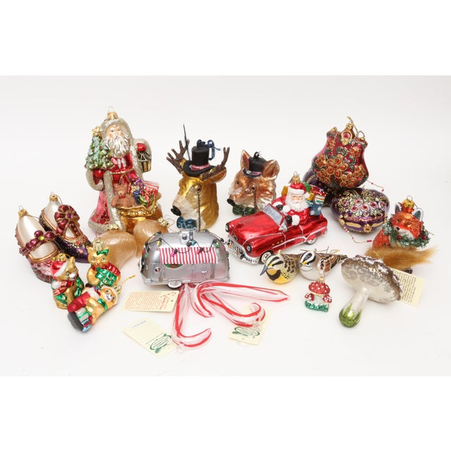 Hand Blown Glass Christmas Ornaments - Set of 23 - Image 11 of 11