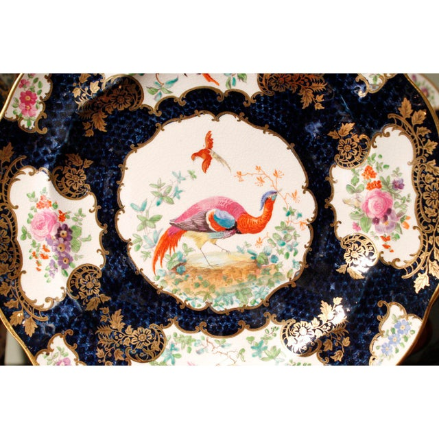 "7-Piece Garniture of English ""Chelsea Bird' Pattern Porcelain For Sale - Image 10 of 11"