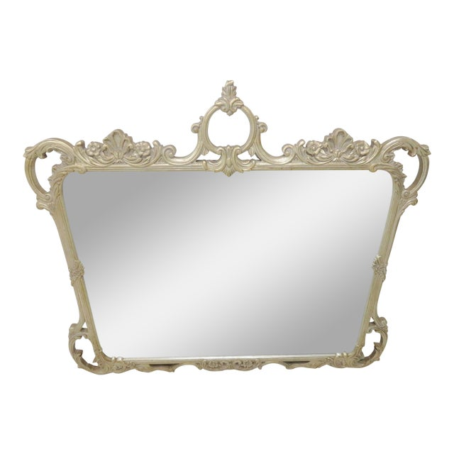 Silver Gilt Carved Mirror For Sale