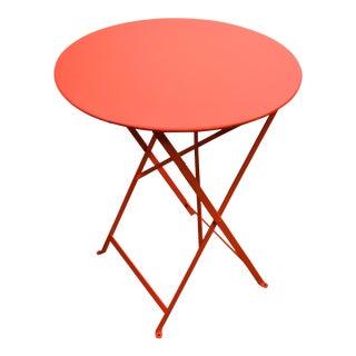 Orange Fermob Bistro Table For Sale