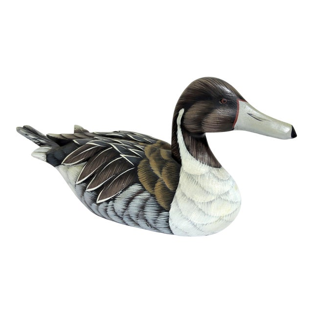 1970s Vintage Country Wooden Duck Decoy For Sale