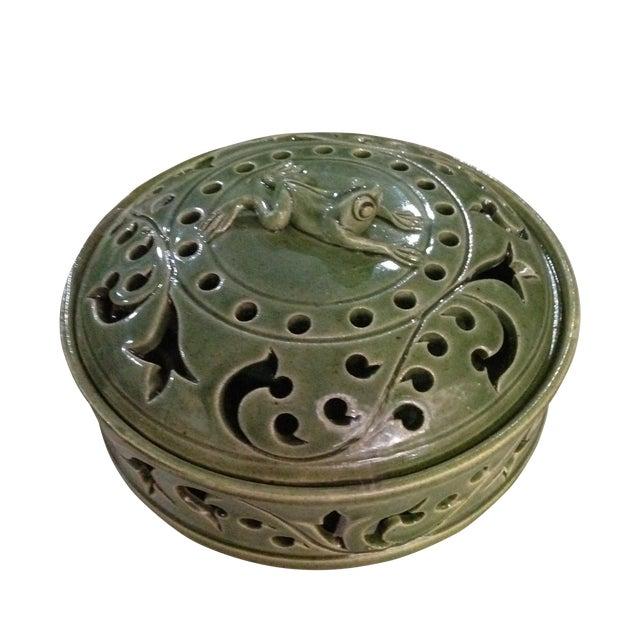 Handmade Ceramic Frog Incense Holder - Image 1 of 3
