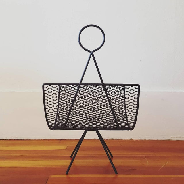 Mid-Century Modern 1950s Magazine Rack Designed by Seymour Robins For Sale - Image 3 of 5