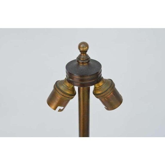 1930s Art Deco Robert T. Lallemant Crackled Cream Ceramic Lamp For Sale - Image 4 of 7