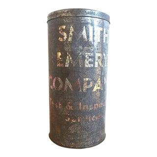 Large Antique Lettered Tin