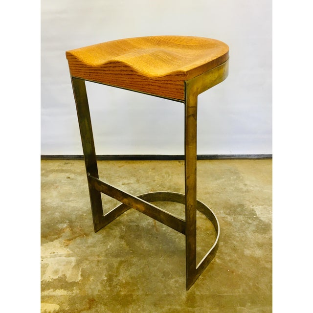 70's Studio Craft Bar Stool by Warren Bacon Mid Century For Sale In San Francisco - Image 6 of 6