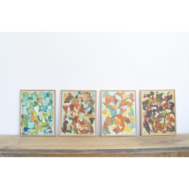 Canvas Four Compositions - Paintings by Eva Beyer For Sale - Image 7 of 7