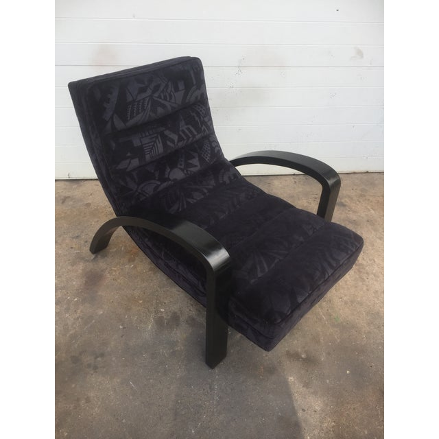Mid-Century Abstract Upholstered Lounge Chair For Sale - Image 4 of 8