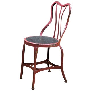 1920s Toledo Art Metal Company Ice Cream Cafe Accent Chair For Sale